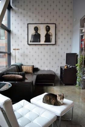沙发背景墙装修效果图664