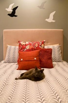 卧室床头软包装修效果图573