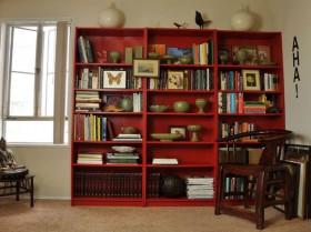 二居室书架装修效果图147