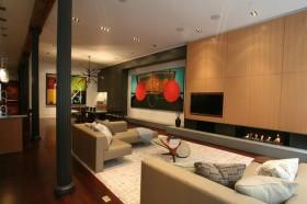 130平别墅客厅沙发装修效果图577