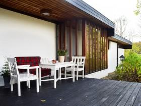 温馨平房小家 实木花园宜居庭院装修