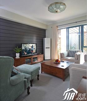 白色电视背景墙窗帘装修效果图大全2015图片