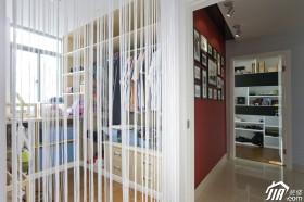 现代简约典雅美居 红黑白家装二居室