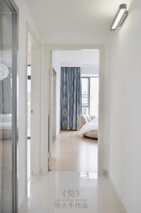 简约风格白色公寓90平米过道装修效果图大全2016图片