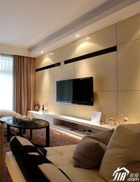 白色电视背景墙电视柜装修效果图40
