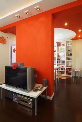 1室2厅二人世界 红火婚房艳丽装