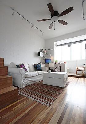 loft风格客厅装修效果图