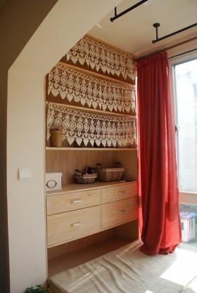 日式风格简洁旧房 自然原木一居室