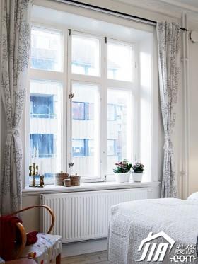 局部欧式风格卧室80平米以下窗帘装修效果图大全2016