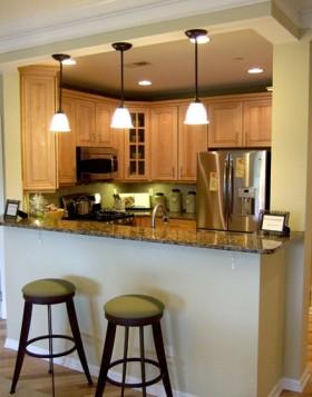 局部欧式风格公寓厨房80平米以下装修效果图大全2016