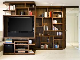 130平混搭公寓电视柜装修效果图152