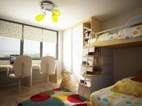 110平二居室儿童房装修效果图