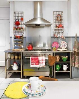 110平混搭公寓厨房装修效果图