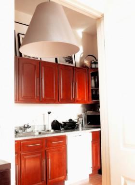 70平混搭公寓厨房橱柜装修效果图299