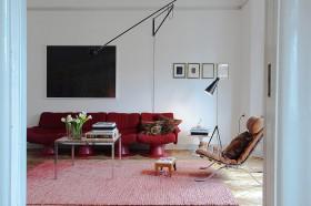 70平北欧公寓客厅沙发装修效果图814