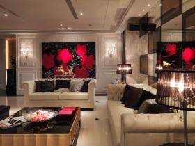 140平公寓背景墙装修效果图150