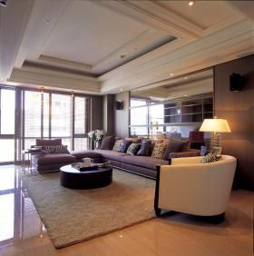 130平公寓新古典客厅茶几装修效果图615