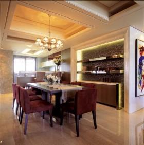 130平公寓餐厅餐桌装修效果图457