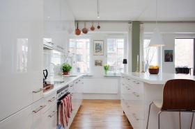 公寓厨房装修效果图343