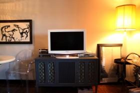 110平混搭公寓电视柜装修效果图