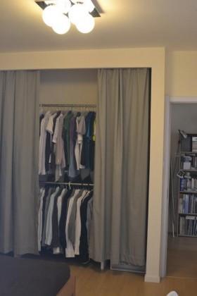 IKEA+MUJI 营造清新的日系风格衣帽间