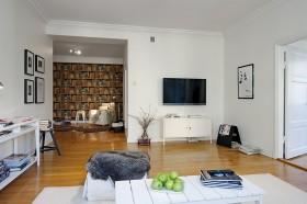 130平欧式公寓客厅装修效果图620
