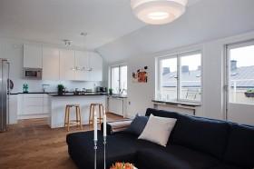 120平欧式公寓家装效果图片