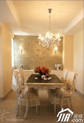 欧式风格公寓餐厅120平米餐桌装修效果图大全2016