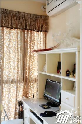 欧式风格公寓120平米窗帘装修效果图大全2015图片