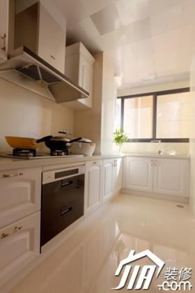 欧式风格公寓厨房100平米橱柜装修效果图大全2016