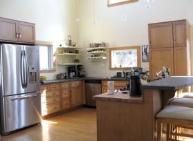 120平复式厨房装修效果图3