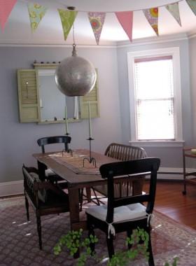 130平复式餐厅餐桌装修效果图369
