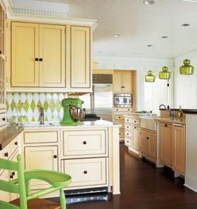 140平别墅厨房橱柜装修效果图19