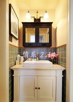 欧式风格二居室洗手台装修效果图261