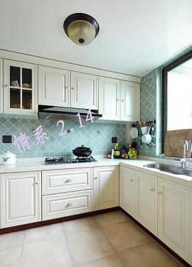 欧式风格厨房奢华一族80平米橱柜装修效果图大全2016