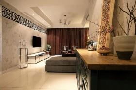 140平二居客厅电视柜装修效果图207