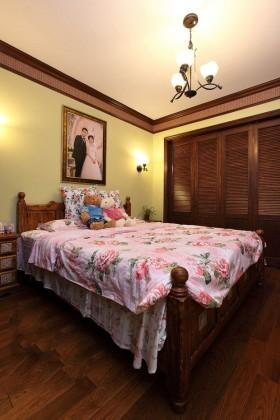 50平二居卧室床装修效果图741