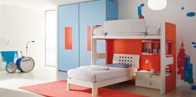 120平二居儿童房装修图片