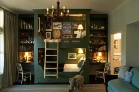 130平二居卧室书桌装修效果图266