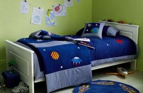 130平二居卧室床装修效果图721