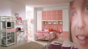 120平二居室公主房装修图片
