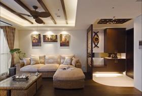 东南亚风格沙发背景墙装修效果图122