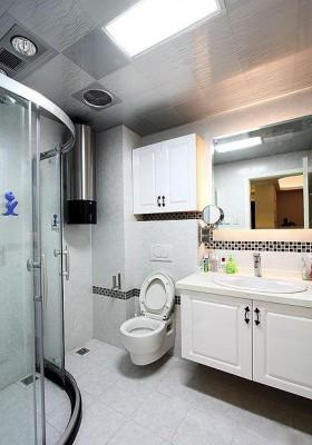 110平白色卫生间装修效果图82
