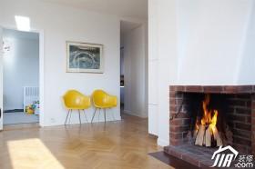 自然朴实北欧风 温暖纯色二居室