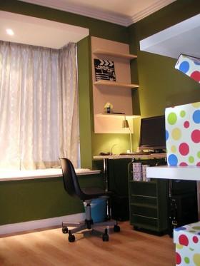 欧式风格飘窗书桌装修效果图13