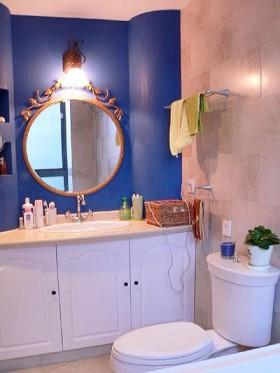 70平二居卫生间浴室柜装修效果图1