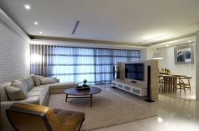 150平三居客厅装修效果图733