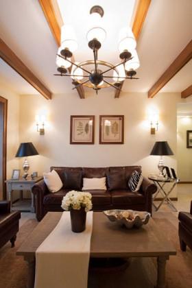 130平沙发背景墙装饰画装修效果图421