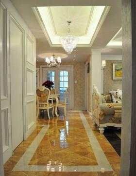 大户型客厅过道暖色装修效果图欣赏_大户型客厅过道图