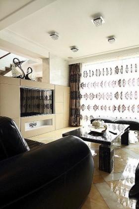 四居室客厅窗帘装修效果图434